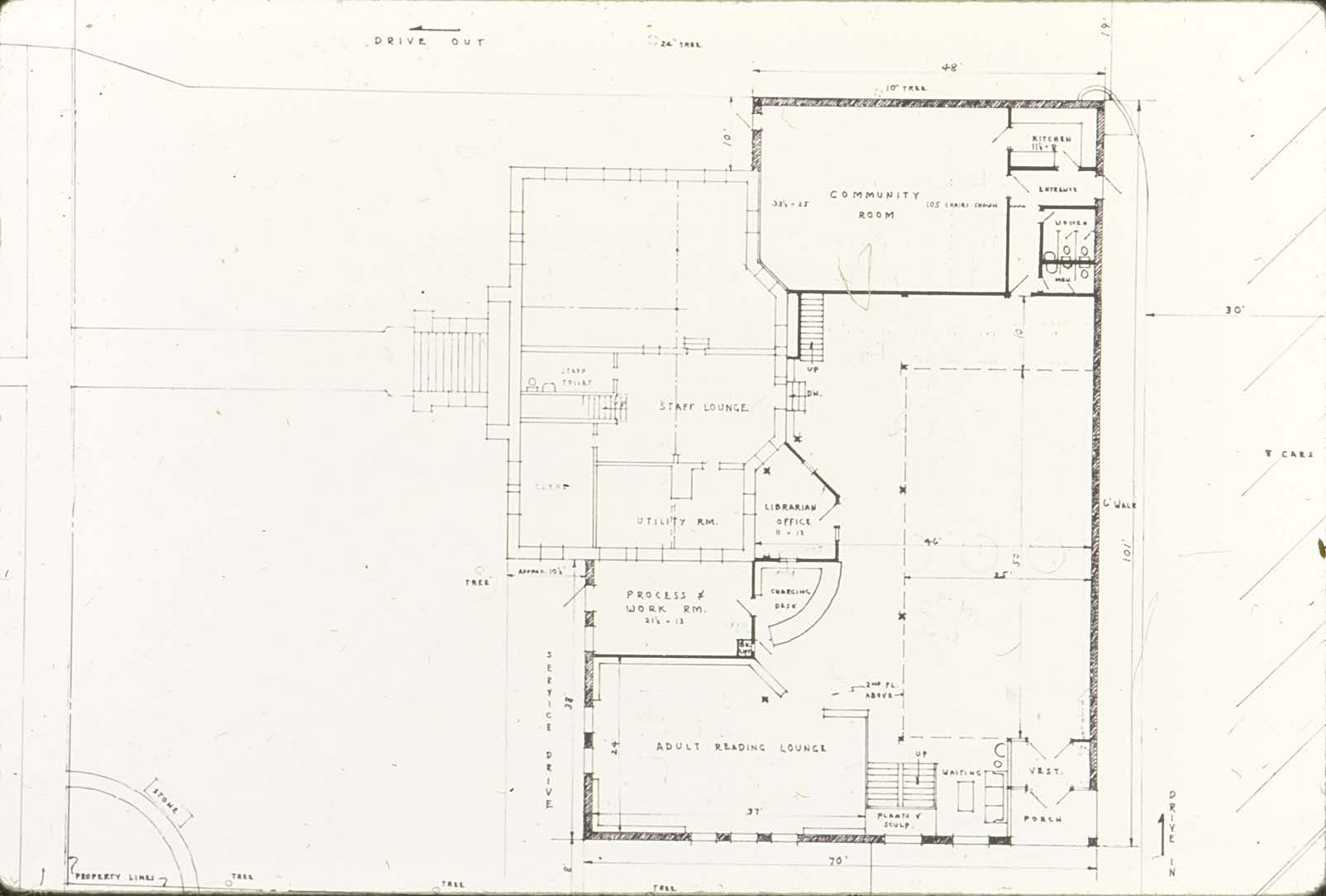 1974 Library slides- Blueprints for the Addition