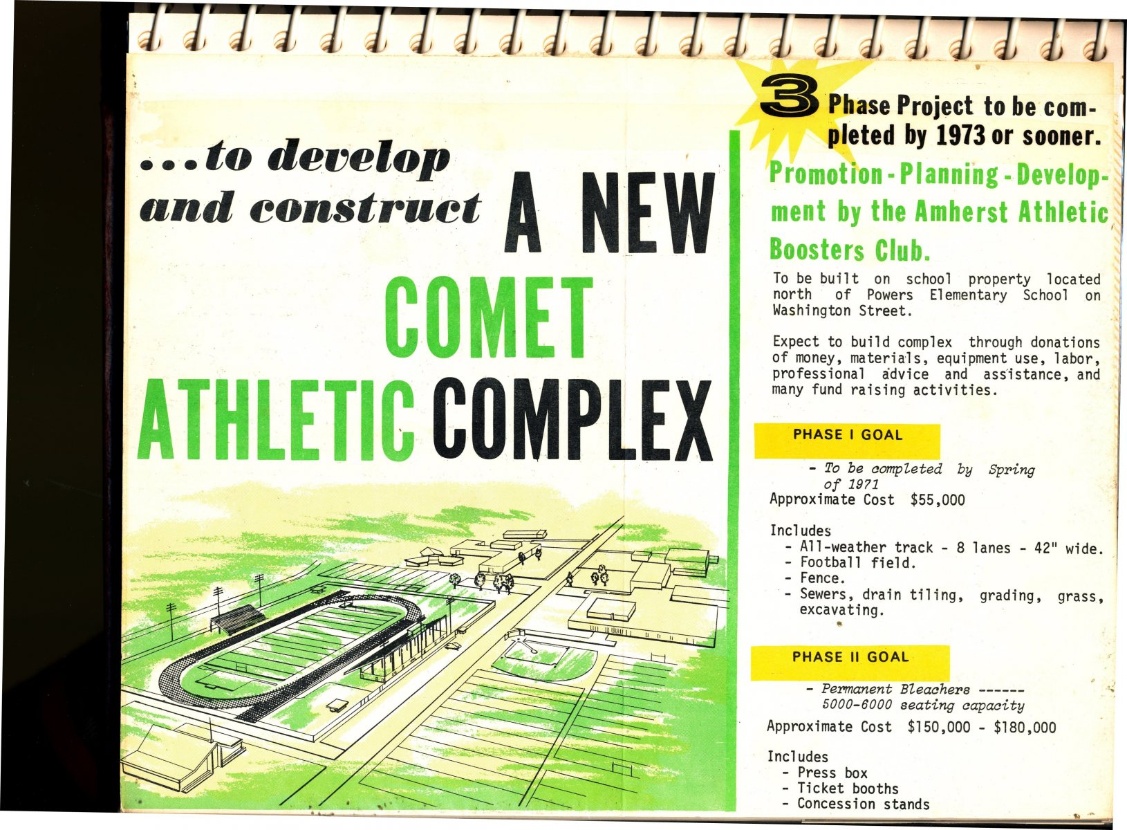 Amherst High School Athletic Complex Scrapbook Page 2