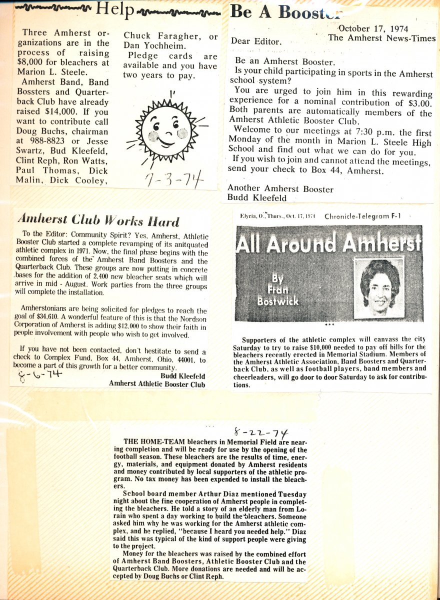 Amherst High School Athletic Complex Scrapbook Page 16
