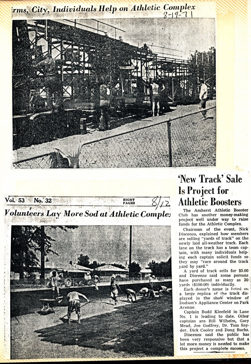 Amherst High School Athletic Complex Scrapbook Page 17