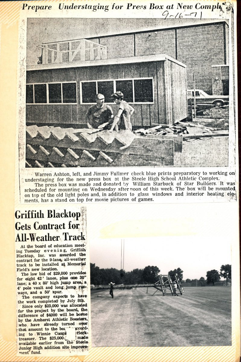 Amherst High School Athletic Complex Scrapbook Page 18