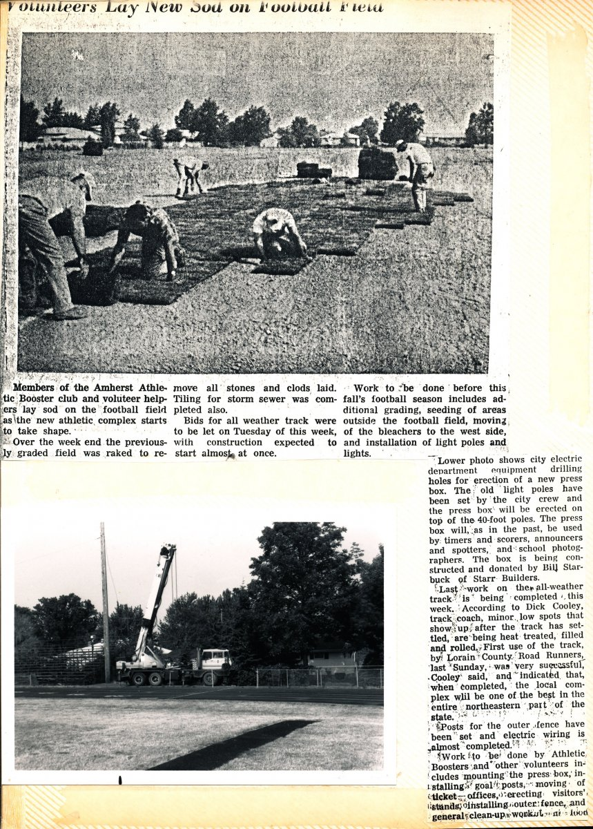 Amherst High School Athletic Complex Scrapbook Page 19