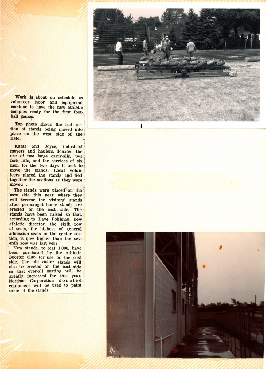 Amherst High School Athletic Complex Scrapbook Page 20
