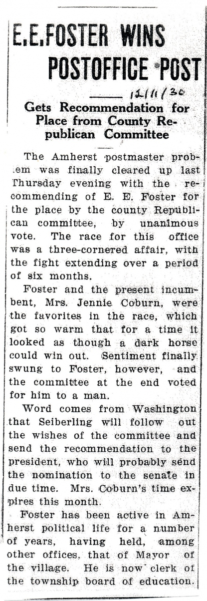 Amherst News Time 12-11-1930