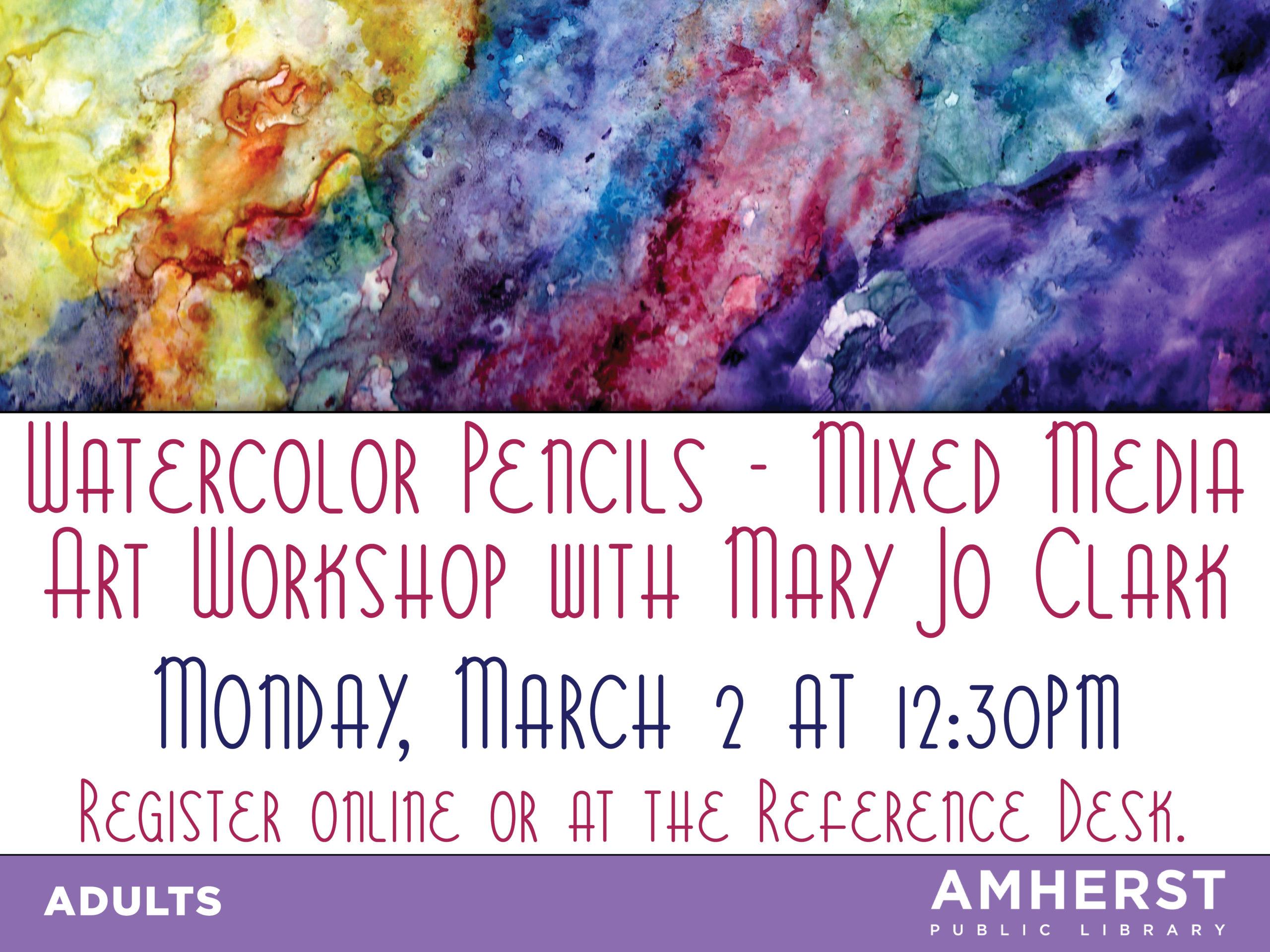 Watercolor Pencils – Mixed Media with Mary Jo Clark