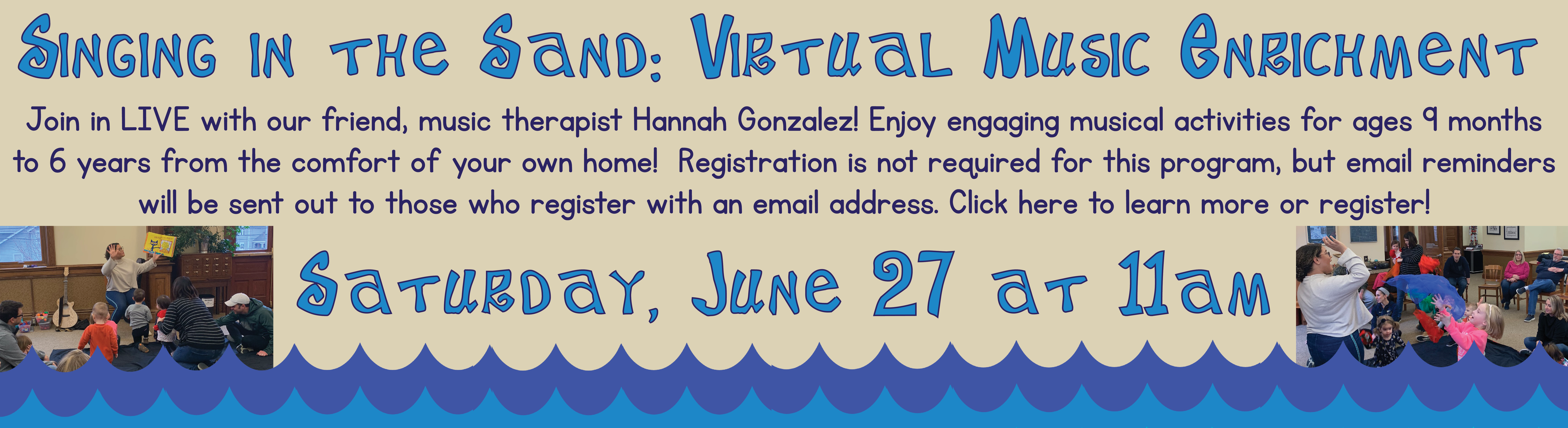 Singing in the Sand – Virtual Music Enrichment