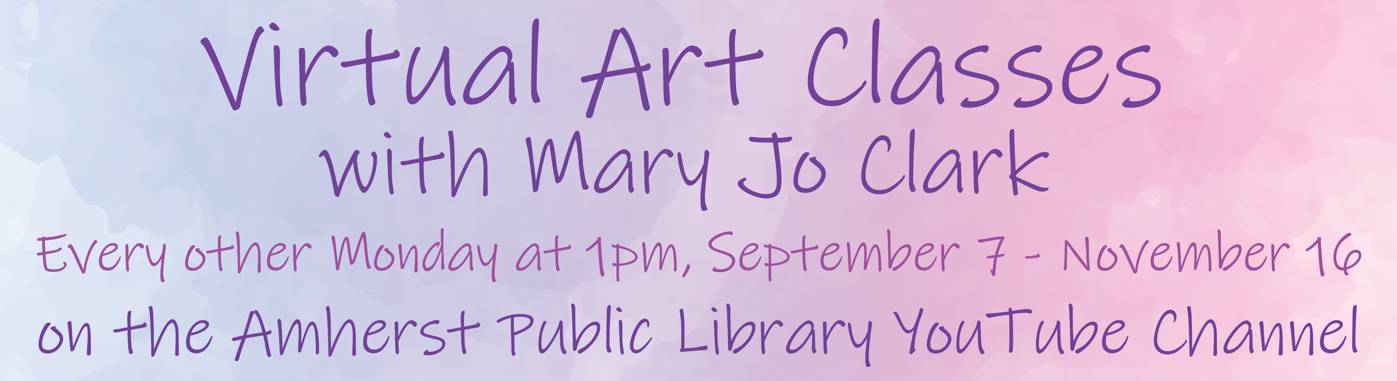 Virtual Art Classes with Mary Jo Clark