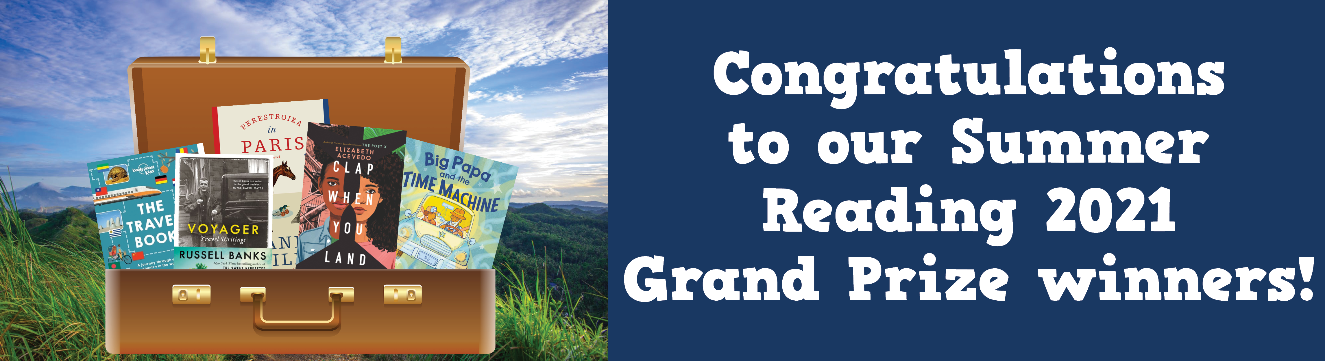 Summer Reading 2021 Grand Prize Winners